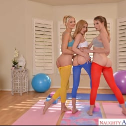 Aiden Ashley in 'VR Naughty America' Aiden Ashley, Ashley Lane, and Zoe Sparx get an even deeper stretch after their yoga session  (Thumbnail 168)