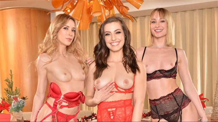 Aiden Ashley in 'Aiden Ashley, Daisy Stone, and Spencer Bradley are on the Naughty List for sure!'