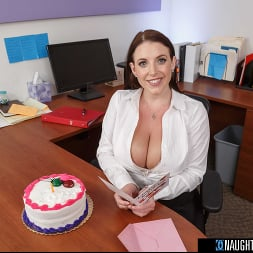 Angela White in 'VR Naughty America' gets a birthday surprise then gives a thankful surprise! (Thumbnail 80)