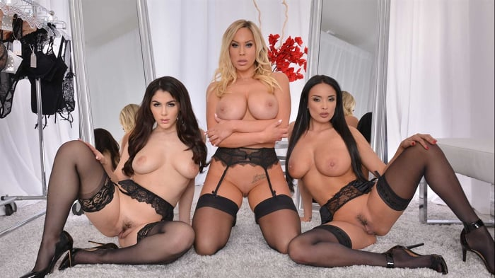 Anissa Kate in 'Anissa Kate, Olivia Austin, and Valentina Nappi fuck in lingerie'