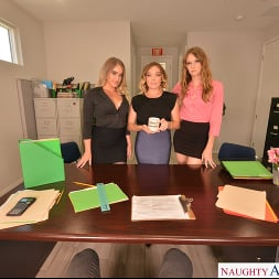 Ashley Lane in 'VR Naughty America' Ashley Lane, Katie Kush, and Kenzie Madison go out with a BANG! (Thumbnail 15)