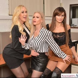 Becky Bandini in 'VR Naughty America' Becky Bandini, Brandi Love, and Casca Akashova have their way with their hung co-worker (Thumbnail 13)