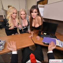 Becky Bandini in 'VR Naughty America' Becky Bandini, Brandi Love, and Casca Akashova have their way with their hung co-worker (Thumbnail 39)