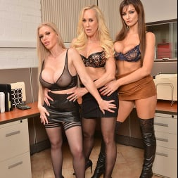 Becky Bandini in 'VR Naughty America' Becky Bandini, Brandi Love, and Casca Akashova have their way with their hung co-worker (Thumbnail 156)