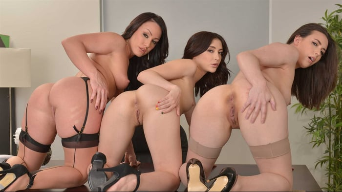 Casey Calvert in 'Office Anal Session with Casey Calvert, Jane Wilde, and Jennifer White'
