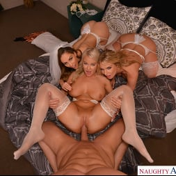 Cherie DeVille in 'VR Naughty America' and her bridesmaids, Rachael Cavalli and London River, fuck her Ex (Thumbnail 200)