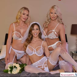 Cherie DeVille in 'VR Naughty America' and her bridesmaids, Rachael Cavalli and London River, fuck her Ex (Thumbnail 325)