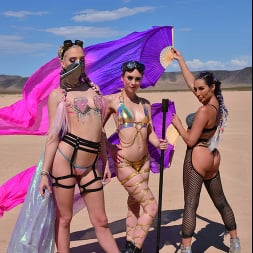 Christiana Cinn in 'VR Naughty America' Burning Dude at the playa and you get to fuck 3 chicks  (Thumbnail 1)