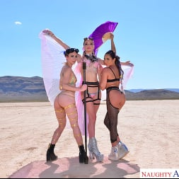 Christiana Cinn in 'VR Naughty America' Burning Dude at the playa and you get to fuck 3 chicks  (Thumbnail 100)