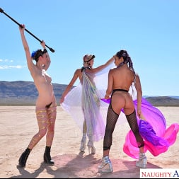 Christiana Cinn in 'VR Naughty America' Burning Dude at the playa and you get to fuck 3 chicks  (Thumbnail 150)