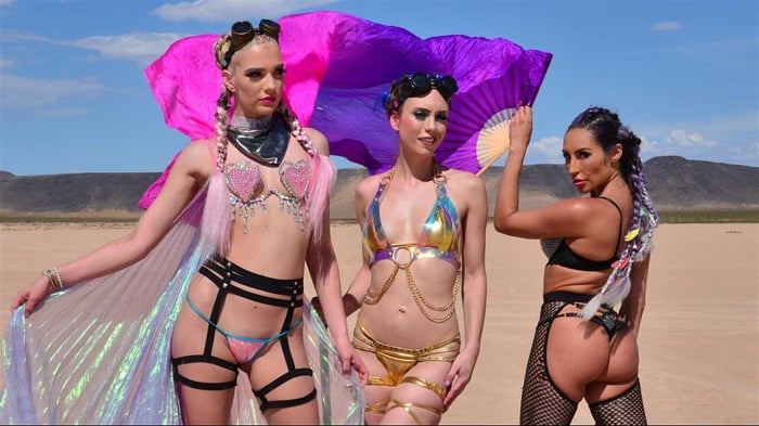 Christiana Cinn in 'Burning Dude at the playa and you get to fuck 3 chicks '