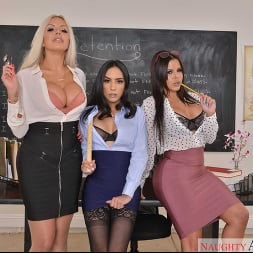 Diamond Kitty in 'VR Naughty America' Detention time with Diamond Kitty, Nina Elle, and Tia Cyrus (Thumbnail 224)