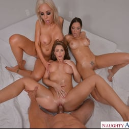 Emily Addison in 'VR Naughty America' Emily Addison, Nina Elle, and Rachel Starr are all oiled up and ready for a hard cock (Thumbnail 182)