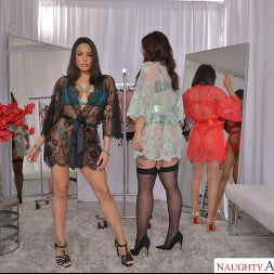 Gia Milana in 'VR Naughty America' Dressing room foursome with Gia Milana, Ivy LeBelle, and Luna Star (Thumbnail 1)