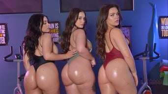 Gia Paige in 'Gia Paige, Kimber Woods, and Violet Smith take that ass to the gym'