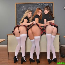 Harlow West in 'VR Naughty America' College cutties Harlow West, Mia Kay, and Raven Right take their dare game in a slutty direction  (Thumbnail 195)