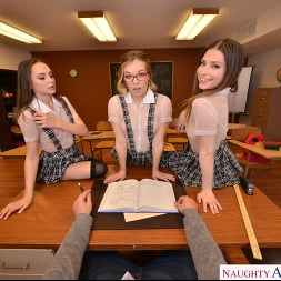 Kamryn Jayde in 'VR Naughty America' Aften Opal, Kamryn Jayde, and Katie Kush show their professor how naughty they can be (Thumbnail 15)