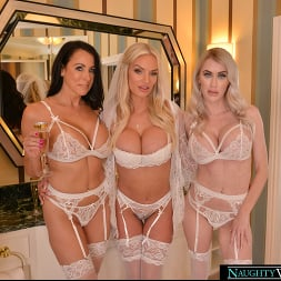 Katie Monroe in 'VR Naughty America' Rachael Cavalli surprises her bridesmaids, Katie Monroe and Reagan Foxx, with the sexy stripper from the bachelorette party (Thumbnail 165)