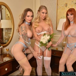 Katie Morgan in 'VR Naughty America' Lauren Phillips and Natasha Starr surprise the bride, Katie Morgan, with the hot stripper they saw for the bachelorette party (Thumbnail 195)