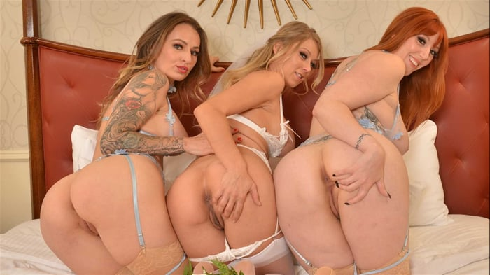 Katie Morgan in 'Lauren Phillips and Natasha Starr surprise the bride, Katie Morgan, with the hot stripper they saw for the bachelorette party'