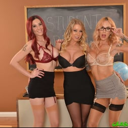 Katie Morgan in 'VR Naughty America' Seductive Professors, Katie Morgan, Lilian Stone, and Sarah Jessie, steer their student in the right direction for success (Thumbnail 204)
