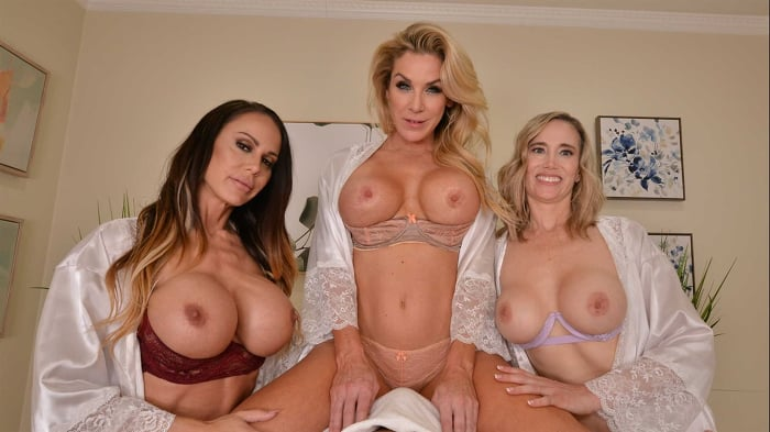 Kayla Paige in 'Masseuse MILFs Kayla Paige, Lilly James, and McKenzie Lee, take extra special care of YOU on your lunch break'