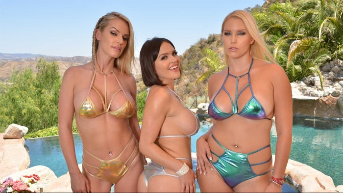 Krissy Lynn in 'Naughty America Vacation with 3 sexy babes in bikinis!'