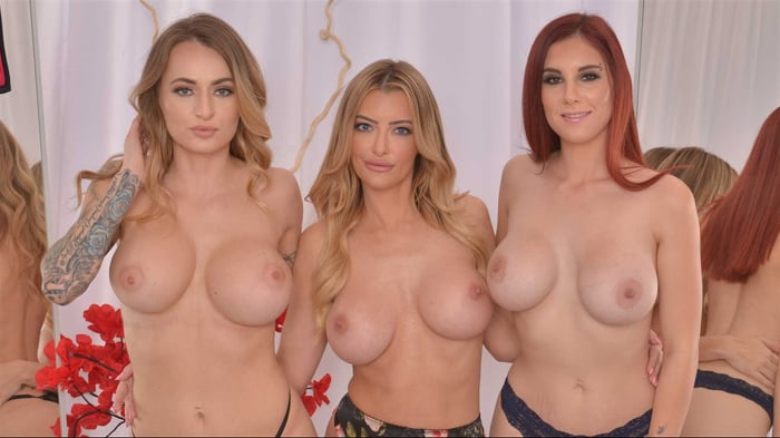 Lilian Stone に 'Lilian Stone, Linzee Ryder, and Natasha Starr fuck in the dressing room'