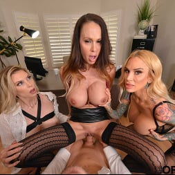 McKenzie Lee in 'VR Naughty America' Brooke Banner, McKenzie Lee, and Sarah Jessie are in search of an office assistant to fulfill their needs (Thumbnail 76)