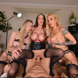 McKenzie Lee in 'VR Naughty America' Brooke Banner, McKenzie Lee, and Sarah Jessie are in search of an office assistant to fulfill their needs (Thumbnail 152)
