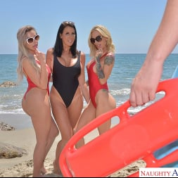 Nina Elle in 'VR Naughty America' Three hot babes go to town on the lifeguard's dick (Thumbnail 96)